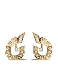 Stephen Webster золотые серьги-кольца Dynamite с бриллиантами