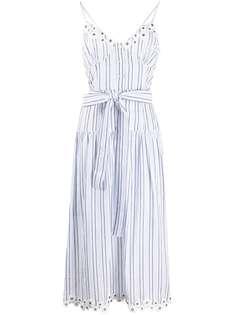 Michael Michael Kors полосатое платье миди