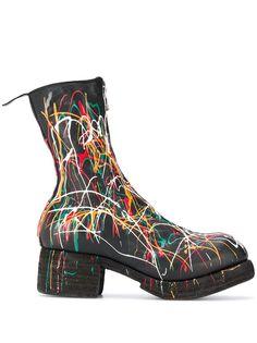 Guidi ботинки с эффектом разбрызганной краски