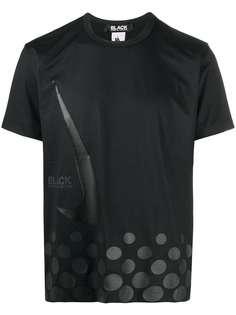 Black Comme Des Garçons футболка с логотипом из коллаборации с Nike