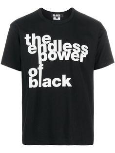 Black Comme Des Garçons футболка с надписью