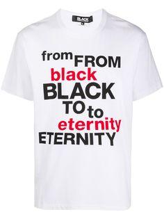 Black Comme Des Garçons футболка с логотипом