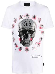 Philipp Plein футболка с принтом Skull и логотипом