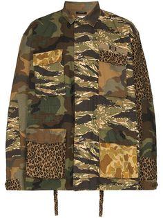 R13 куртка в стиле милитари с принтом