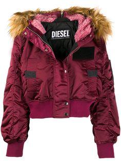 Diesel куртка-пуховик с меховой оторочкой