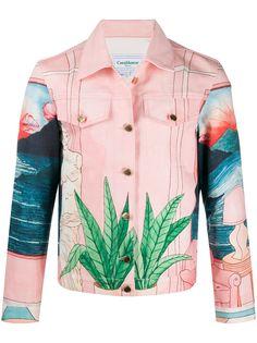 Casablanca джинсовая куртка с принтом