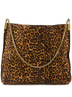 Saint Laurent сумка-хобо Suzanne с леопардовым принтом