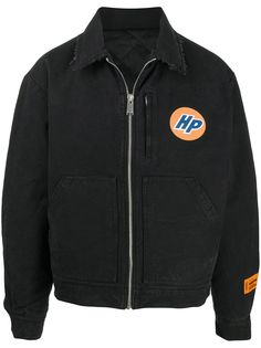 Heron Preston стеганая куртка-рубашка с бахромой