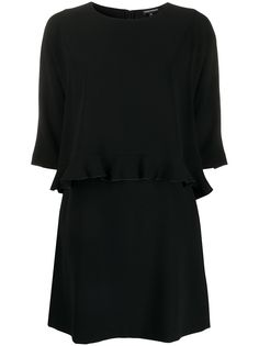 Emporio Armani платье-трапеция с оборками