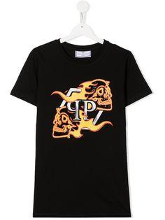 Philipp Plein Junior футболка с принтом