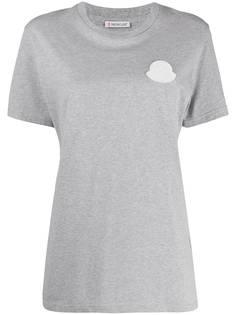 Moncler футболка с нашивкой-логотипом и короткими рукавами