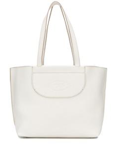 Tods сумка-тоут с гравировкой логотипа Tod'S