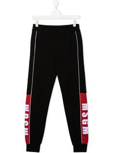Msgm Kids спортивные брюки с логотипом
