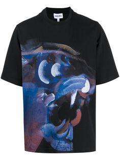 Kenzo футболка с абстрактным принтом