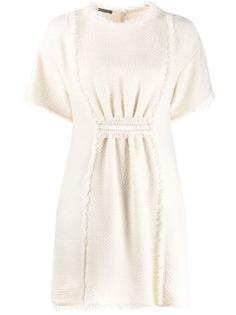 Alberta Ferretti твидовое платье мини
