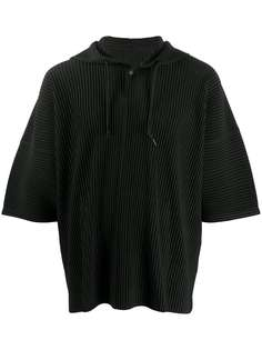 Homme Plissé Issey Miyake плиссированная футболка с капюшоном
