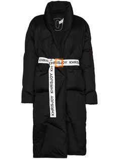 Khrisjoy пуховик Robe с поясом