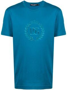 Dolce & Gabbana футболка с вышитым логотипом