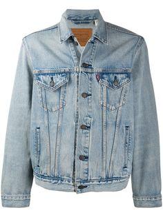 Levis джинсовая куртка с эффектом потертости
