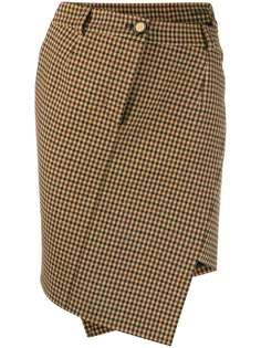 Balenciaga твидовая юбка мини в ломаную клетку