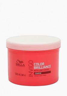 Маска для волос Wella Professionals уход INVIGO COLOR BRILLIANCE для защиты цвета для жестких волос, 500 мл