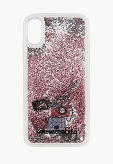 Чехол для iPhone Karl Lagerfeld Liquid glitter Iconic patterns Hard