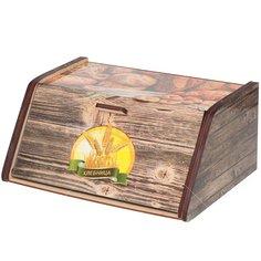 Хлебница деревянная ХЛ-5, 28.5х20.5х12.5 см