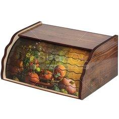 Хлебница деревянная ХЛ-2, 38.5х28.5х17.5 см