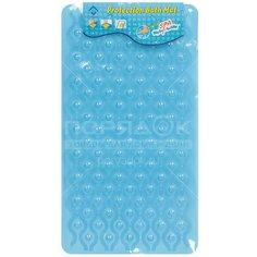 Коврик для ванной Волна Y300 I.K противоскользящий голубой, 66х37 см