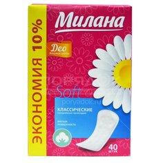 Прокладки женские ежедневные Милана Deo Soft Эконом Весенние цветы 4103/40, 40 шт Milana