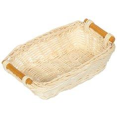 Корзина универсальная плетеная Ротанг 06-034-4 с ручками, 22х18х6 см