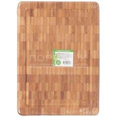 Доска разделочная деревянная Бамбук H-1865S, 27х20х3 см