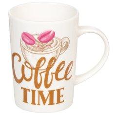 Кружка керамическая Daniks Время кофе-3, 340 мл