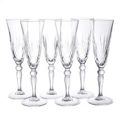 Бокал для шампанского RCR Melodia 28327, 6 шт, 160 мл