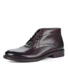 Ботинки Бордовые ботинки из кожи на шнуровке Respect