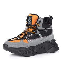 Ботинки Серо-оранжевые ботинки из комбинированных материалов в спортивном стиле Respect