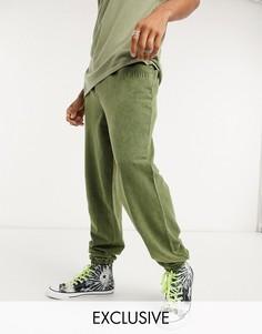 Джоггеры цвета хаки от комплекта Reclaimed Vintage inspired-Зеленый