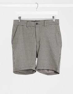 Бежевые клетчатые шорты от комплекта Mauvais-Бежевый