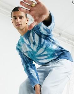 Синий свитшот с принтом тай-дай Champion
