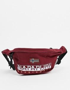 Бордовая сумка-кошелек на пояс Napapijri-Красный