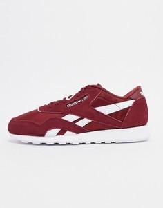 Бордовые нейлоновые кроссовкиReebokclassic-Красный