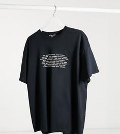 Свободная футболкас принтомNew Girl Order Curve-Черный