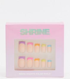 Накладные ногти Shrine X ASOS - Neon Nights-Многоцветный