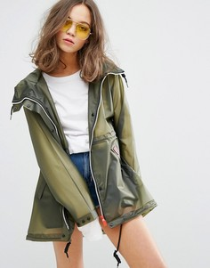 Женский дождевик оливкового цветаHunter-Зеленый