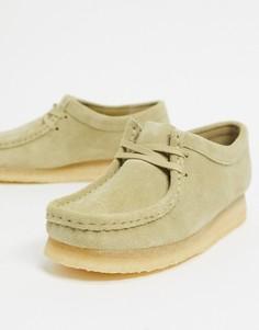 Замшевые туфли на плоской подошве Clarks Originals-Бежевый