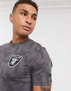 """Серая футболка с логотипом команды """"Las Vegas Raiders""""New EraNFL-Серый"""
