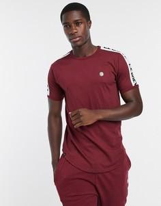 Бордовая футболка для дома от комплекта Le Breve-Красный