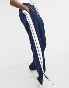 Синие узкие джоггеры с полосками Tommy Jeans-Темно-синий