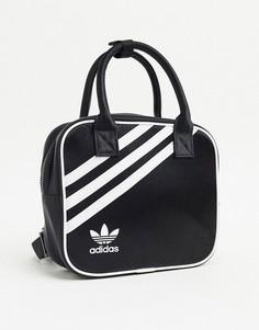 Черный маленький рюкзак с логотипом adidas Originals-Розовый