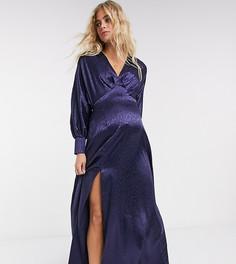 Эксклюзивное темно-синее платье максиFlounce London Maternity-Темно-синий